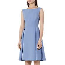 Buy Reiss Eri Low-Back Fit and Flare Dress, Deep Sky Online at johnlewis.com