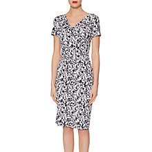Buy Gina Bacconi Floral Jersey Dress, Navy/White Online at johnlewis.com