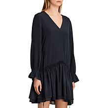 Buy AllSaints Silk Alia Dress, Mystic Blue Online at johnlewis.com