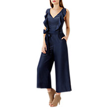 Buy Coast Fabianna Chambray Jumpsuit, Navy Online at johnlewis.com