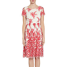 Buy Gina Bacconi Dainty Embroidered Lace Dress, Red Online at johnlewis.com