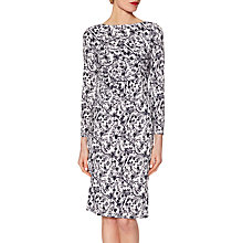 Buy Gina Bacconi Floral Jersey Dress, Black/White Online at johnlewis.com