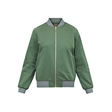 Buy Ted Baker Colour By Numbers Calda Scalloped Trim Satin Bomber Jacket Online at johnlewis.com