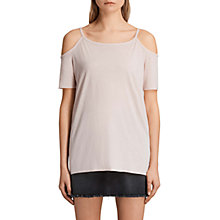 Buy AllSaints Tyra Devo Cold Shoulder Top Online at johnlewis.com
