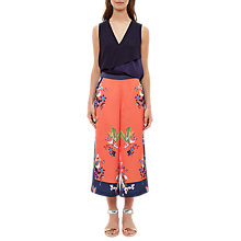 Buy Ted Baker Tessey Tropical Oasis Culottes, Coral/Multi Online at johnlewis.com