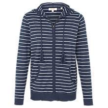 Buy Fat Face Steph Stripe Hoodie, Navy Online at johnlewis.com