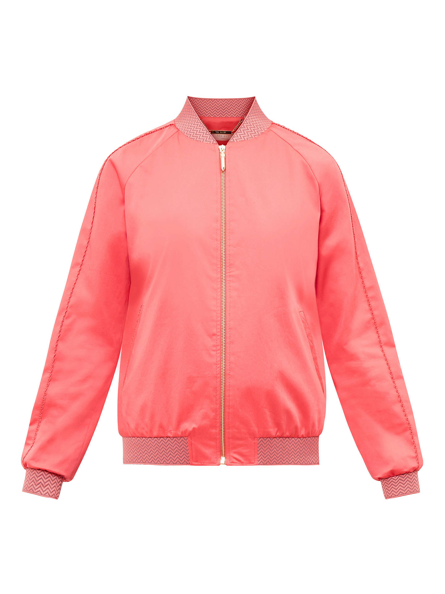 7340024e1 Ted Baker Colour By Numbers Calda Scalloped Trim Satin Bomber Jacket ...
