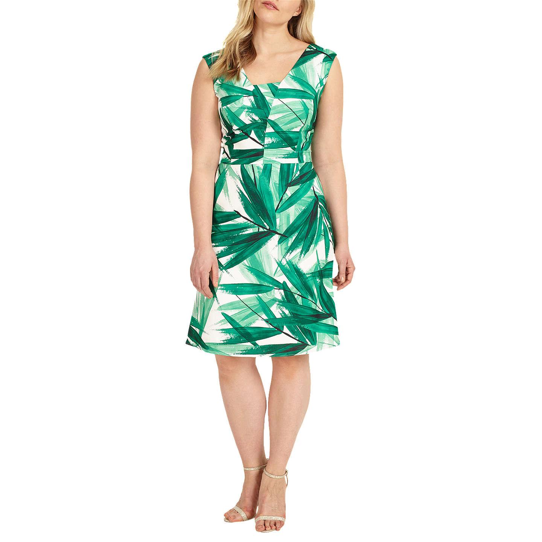 Offer: Studio 8 Thea Dress, Green/Ivory at John Lewis
