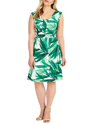 Studio 8 Thea Dress, Green/Ivory