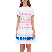 Buy Ted Baker Myley Marina Mosaic Skater Dress, White/Multi Online at johnlewis.com