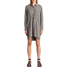 Buy AllSaints Millie Shirt Dress, Khaki Green Online at johnlewis.com