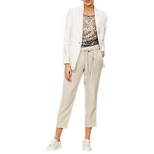 Buy Mint Velvet Belted Tapered Trousers Online at johnlewis.com