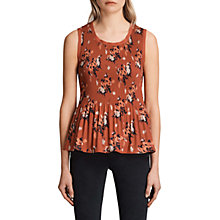 Buy AllSaints Etta Kirsch Top, Red Online at johnlewis.com