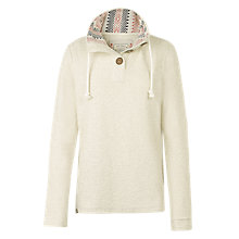 Buy Fat Face Hemsby Funnel Neck Top, Ivory Online at johnlewis.com