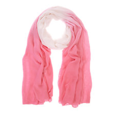 Buy Mint Velvet Ombre Scarf, Peony/Ivory Online at johnlewis.com