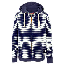Buy Fat Face Club Striped Zip Through Hoodie, Navy Online at johnlewis.com