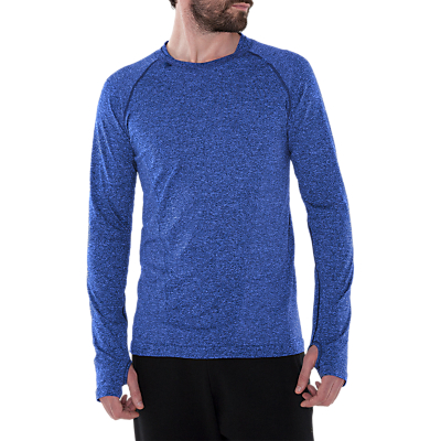 Product photo of Manuka life yoga practice sculpt long sleeve tshirt blue