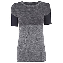 Buy Manuka Flow Yoga T-Shirt, Black/Grey Online at johnlewis.com