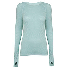 Buy Manuka Life Long Sleeve Top, Green Online at johnlewis.com