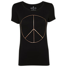 Buy Manuka Peace Out Yoga T-Shirt, Black Online at johnlewis.com