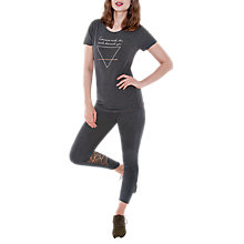 Buy Manuka Lotus Print Yoga Leggings, Grey Online at johnlewis.com
