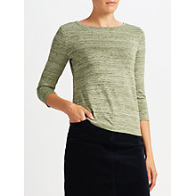 Buy John Lewis Three Quarter Sleeve Stripe Top Online at johnlewis.com