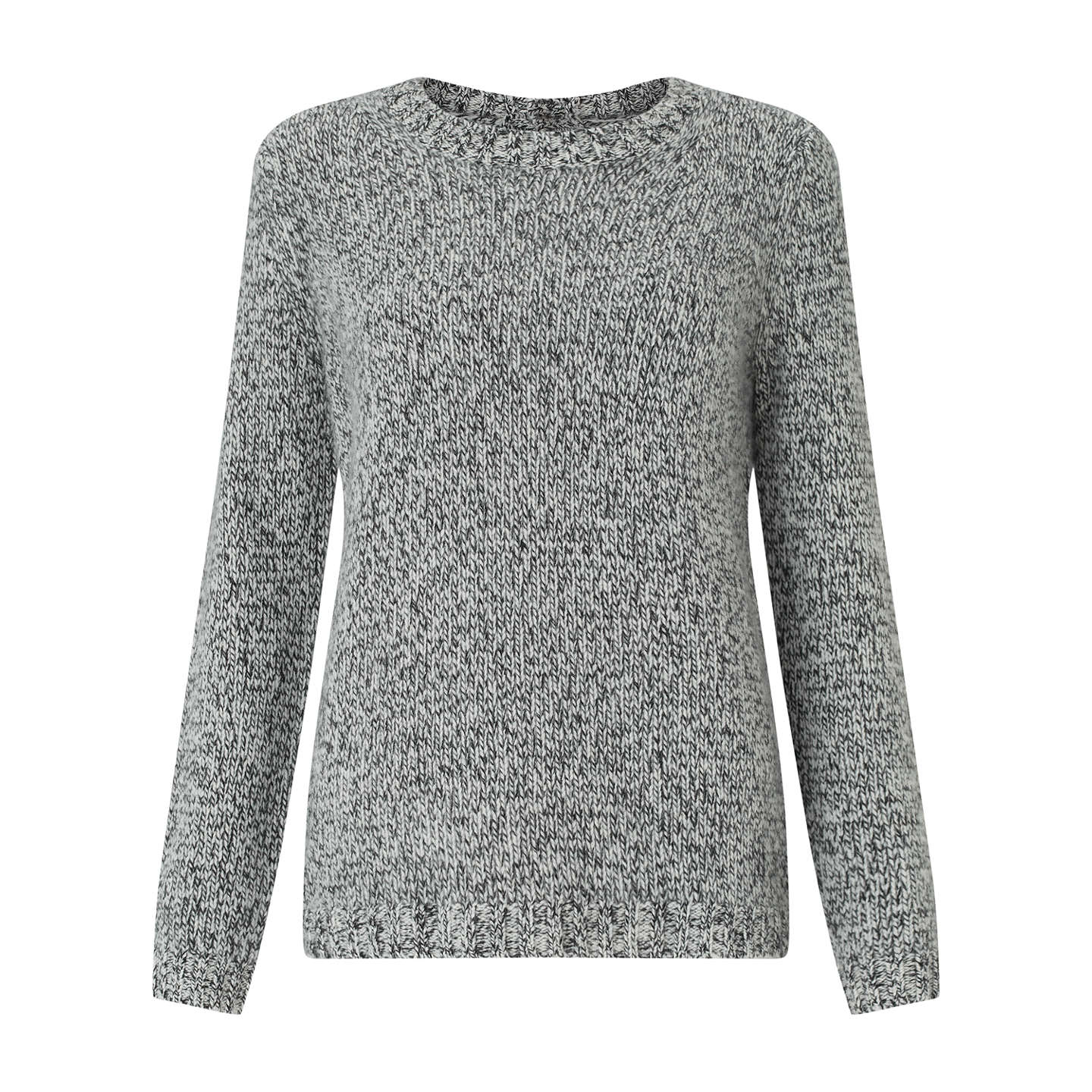 BuyCollection WEEKEND by John Lewis Donegal Cashmere Jumper, Black/White, 8 Online at johnlewis.com