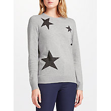 Buy Collection WEEKEND by John Lewis Falling Star Intarsia Jumper, Grey Online at johnlewis.com