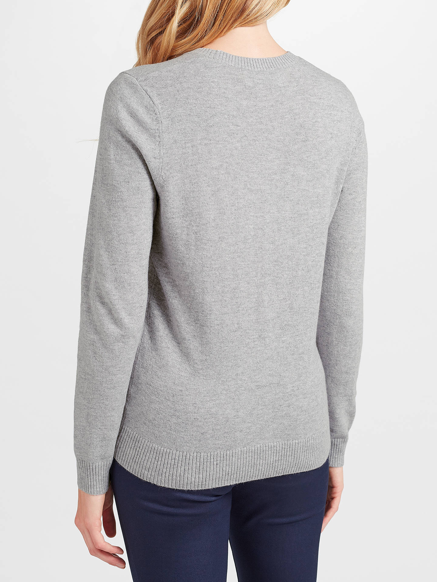BuyCollection WEEKEND by John Lewis Falling Star Intarsia Jumper, Grey, 8 Online at johnlewis.com