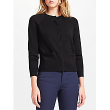 Buy Collection WEEKEND by John Lewis Raglan Seam Cardigan, Black Online at johnlewis.com