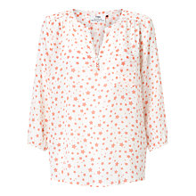 Buy Pyrus Grace Printed Silk Blouse, Coral Stars Online at johnlewis.com