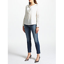 Buy Pyrus Sabine Lace Detail Top, Salt Online at johnlewis.com