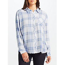 Buy Rails Hunter Check Shirt, White Melange/Sky Online at johnlewis.com