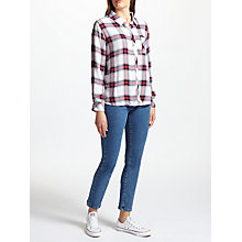 Buy Rails Hunter Check Shirt, Off White/Rose Online at johnlewis.com