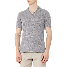 Buy Reiss Marcelos Open Collar Polo Shirt, Navy Online at johnlewis.com