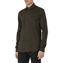 Buy Reiss Heston Pocket Shirt, Oxidised Green Online at johnlewis.com