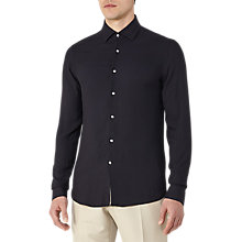 Buy Reiss Trix Twill Weave Slim Fit Shirt, Midnight Online at johnlewis.com