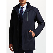Buy Bugatti 88cm Water-Repellent Twill Funnel Neck Mac, Navy Online at johnlewis.com