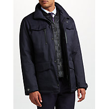 Buy Bugatti 78cm Water-Repellent Four Pocket Short Jacket, Dark Blue Online at johnlewis.com