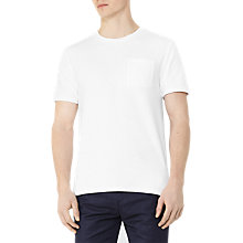 Buy Reiss Terrance Pocket T-Shirt, White Online at johnlewis.com