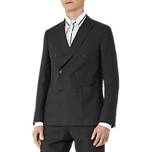 Buy Reiss Welton Double Breasted Slim Fit Suit Jacket, Black Online at johnlewis.com