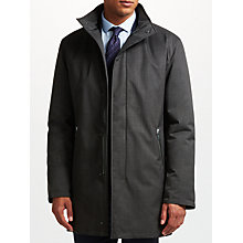 Buy Bugatti 88cm Water-Repellent Funnel Neck Mac, Charcoal Online at johnlewis.com