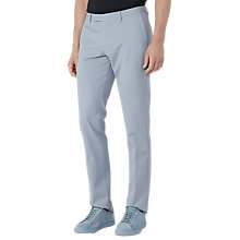 Buy Reiss Ciaro Heavyweight Cotton Twill Trousers, Light Blue Online at johnlewis.com