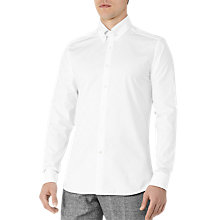 Buy Reiss Forsberg Collar Bar Shirt, White Online at johnlewis.com