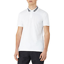 Buy Reiss Phantom Piped Polo Shirt, White Online at johnlewis.com