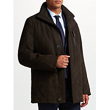 Buy Bugatti Microma Velour Jacket, Dark Brown Online at johnlewis.com
