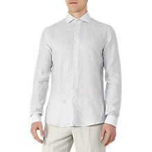Buy Reiss Jackson Linen Stripe Shirt, Off White Online at johnlewis.com