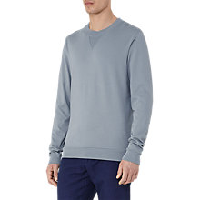 Buy Reiss Wilde Crew Neck Sweatshirt, Mint Online at johnlewis.com