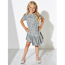 Buy Wheat Girls' Floral Printed Dress, Navy Online at johnlewis.com
