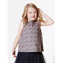 Buy Wheat Girls' Floral Printed Top, Multi Online at johnlewis.com